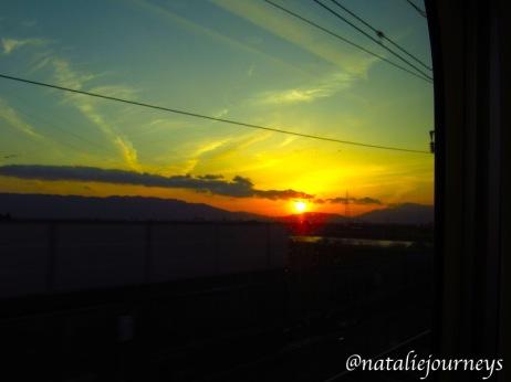 ShinkansenSunset